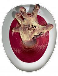 Decoración adhesiva tapa WC mano de zombie