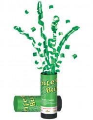 Cañón con confetis verdes