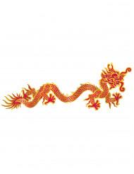 Decoración mural dragón rojo y dorado Año Nuevo chino