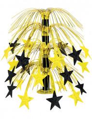 Centro de mesa estrellas negras y doradas