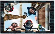 Decoración mural barco pirata