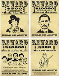 Carteles recompensa Bandidos americanos