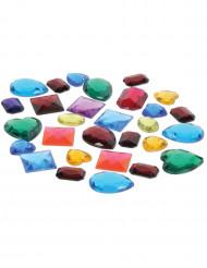 Bolsa piedras preciosas falsas multicolores