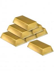 6 Lingotes de oro