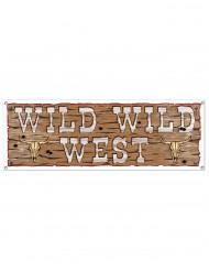 Pancarta marrón Wild Wild West