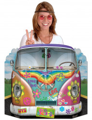 Muro de cartón Photcall bus hippie