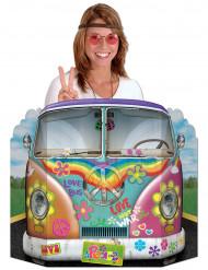 Muro de cartón Photcall bus hippie