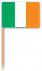Palillos con la bandera de Irlanda