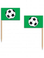 Palillos verde fútbol