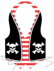 Delantal de plástico hombre pirata