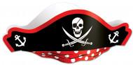 Sombrero negro pirata