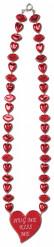 Collar rojo labios y corazones San Valentín