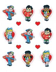 Pegatinas niños San Valentín