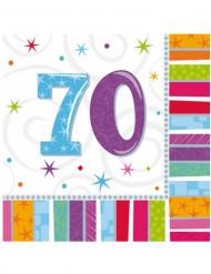 16 Servilletas papel 70 años 33x33 cm