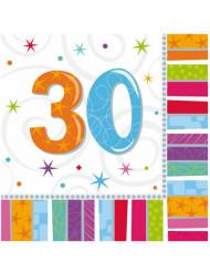 16 Servilletas papel 30 años 33x33 cm