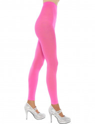 Leggings rosa fosforito adulto