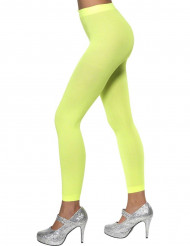 Medias sin pies verde fluorescente mujer