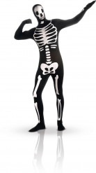 Disfraz segunda piel esqueleto fosforescente