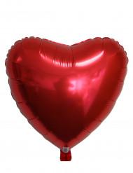 Globo aluminio corazón rojo