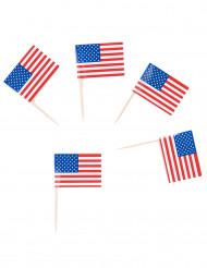 30 palillos bandera USA