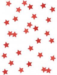Confetis estrellas metalizadas rojo