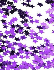Confetis estrellas metalizadas violeta