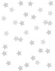Confetis estrellas metalizadas plata
