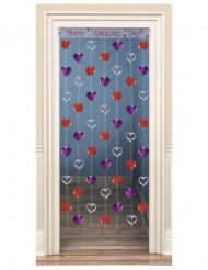 Decoración puerta corazones San Valentín