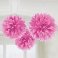 Decoración para colgar bola rosa