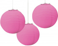 Farolillos para colgar bolas rosas