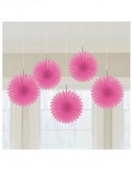 Decoración para colgar rosáceas rosa