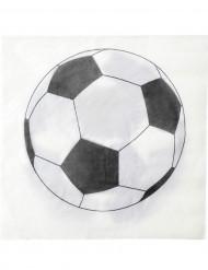 20 servilletas balón fútbol 33 x 33 cm