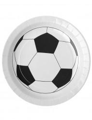 10 platos cartón balón fútbol