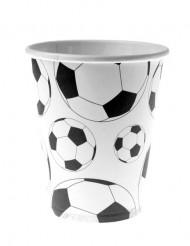 10 vasos de cartón balón fútbol