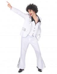Disfraz estilo disco blanco para hombre