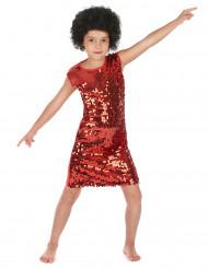 Disfraz disco rojo para niña