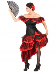 Disfraz de flamenca rojo y negro