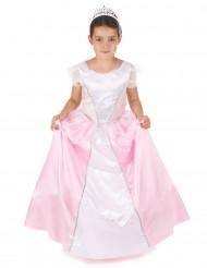 Disfraz princesa niña rosa y blanco