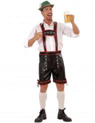 Disfraz de bávaro hombre negro rojo