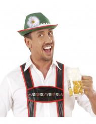 Sombrero bávaro adulto con margarita