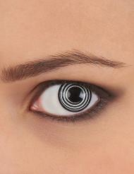 Lentes de contacto fantasía espiral negro y blanco