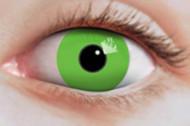 Lentillas fantasía verde fluorescente
