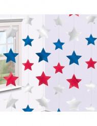 6 Decoraciones estrellas colgantes USA