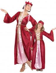 Disfraz de pareja Reina medieval