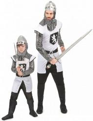 Disfraz de pareja medieval blanco y negro