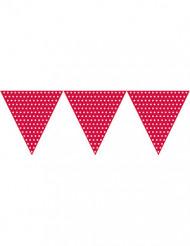 Guirnalda banderines papel rojo puntos