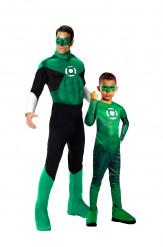 Disfraz de pareja Linterna Verde™ padre e hijo