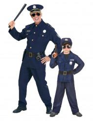 Disfraz de pareja policía padre e hijo