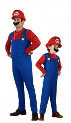 Disfraz de pareja Mario padre e hijo