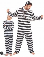 Disfraz de pareja preso padre e hijo